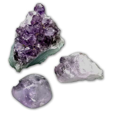 Amethyst Gemstone Trio - Green Moon Apothecary Ltd