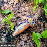 Infinite Rope Dichroic Glass Pipe - Green Moon Apothecary Ltd