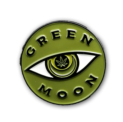 Green Moon Enamel Pinback - Green Moon Apothecary Ltd