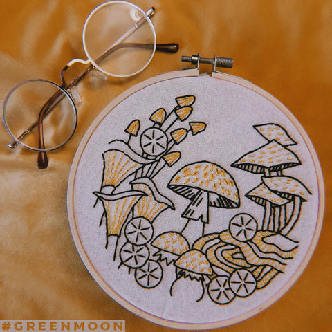 Hook, Line & Tinker 'Fungus Among Us' Embroidery Kit