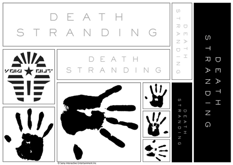 Death Stranding Logo & Various Sticker Sheet