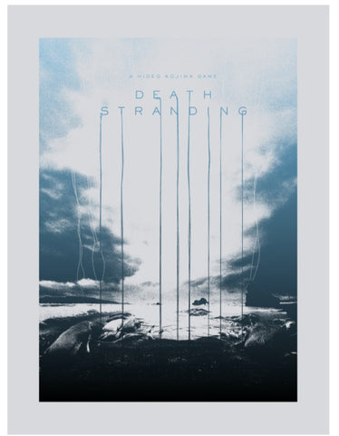 Death Stranding Blue Beach Poster