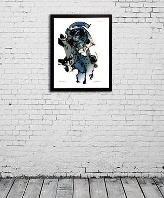 Limited Edition Signed and Framed LUDENS Print