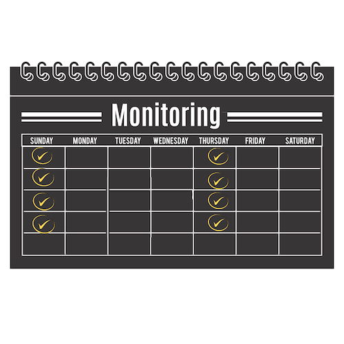 1 Month of Monitoring 2 times per week Check-in