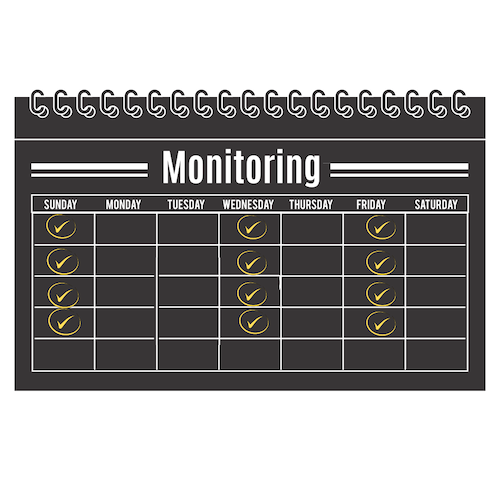 1 Month of Monitoring 3 times per week Check-in