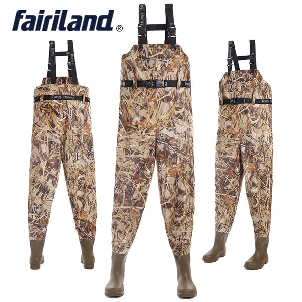 41-46 size Chest-high wader with wading boots Taiwan Nylon shell PVC linning fishing waders fly fishing gear bootfoot wader