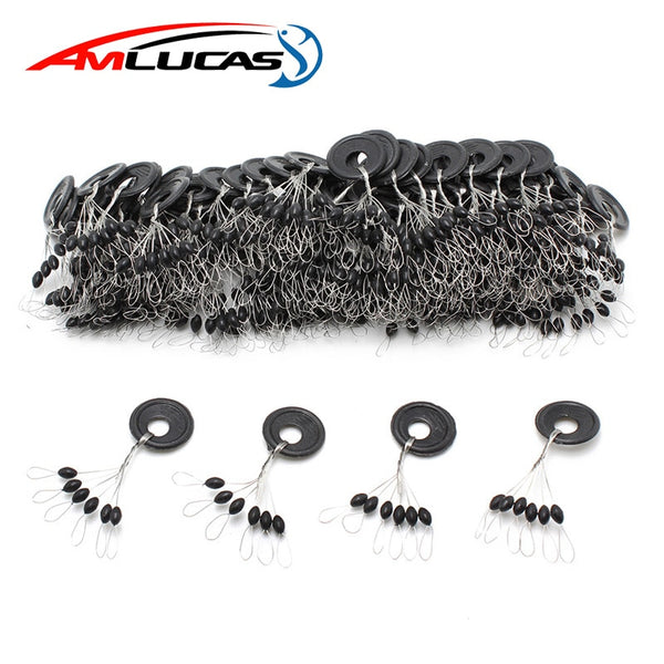 60pcs 10Group Black Space Beans Carp fly fishing equipment Not To Hurt The Vertical Line Stopper Fishing Line Resistance Tackle