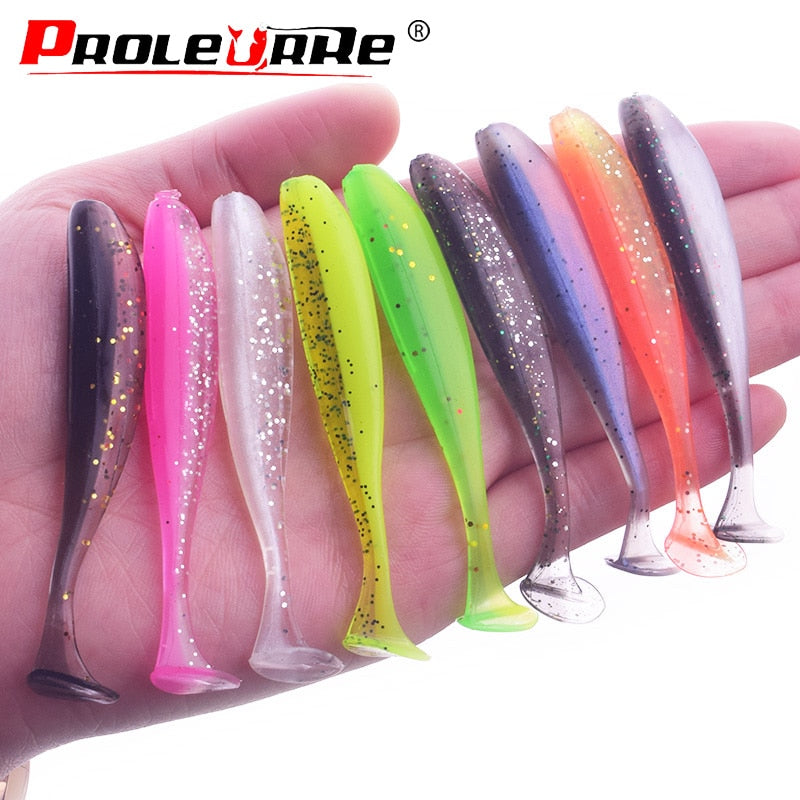 10Pcs/lot Silicone Soft Lure 75mm 2.2g Swimbaits isca Artificial Worm Soft Bait Fish Wobblers Bass Carp Flying Fishing Lure