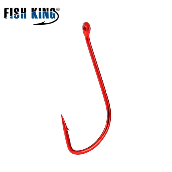 FISH KING 10pcs Fishing Hook SODE Barbed Fishhook  Bent Baitholder Fly Fishing Tackle AD Sharp Ringed Carp Hook GAC