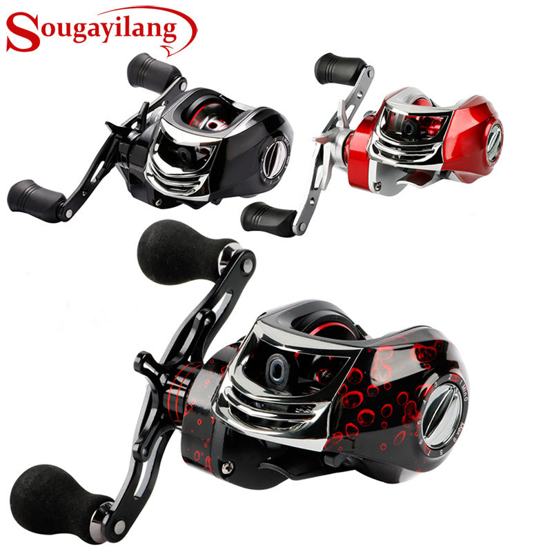 Sougayilang Baitcasting Fishing Reel -17+1 Bearings 7.2:1 Gear Ratio - Magnetic Tuned Dual Brakes -Ultra Light  Smooth Powerful