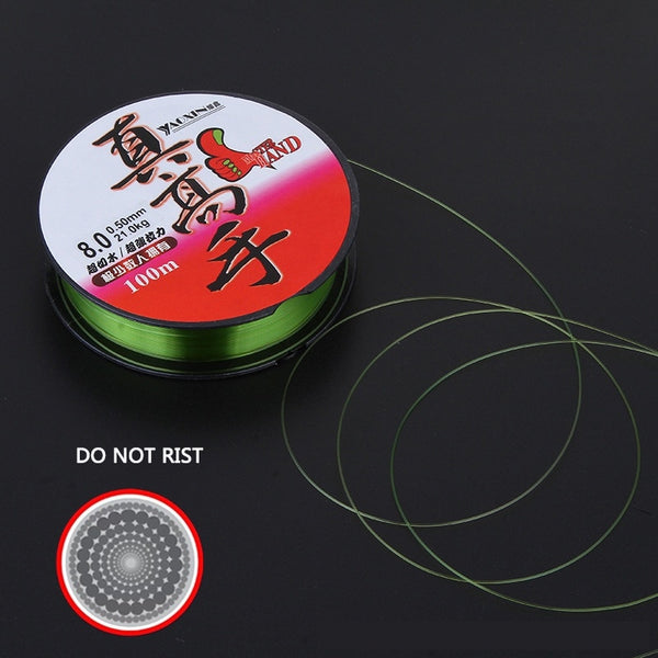 Nylon Sea Fishing line 100m high cut water super strong pull line fishing gear 0.4#-8# Winter Rope Fly Wires prevent corrosion