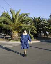 Load image into Gallery viewer, Greta Dress - Blue Plaid