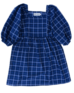Greta Dress - Blue Plaid