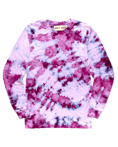 Dust Dye Long Sleeve - Peony Blooms