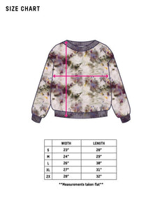 Dust Dye Sweatshirt - Purple Rain