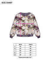 Load image into Gallery viewer, Dust Dye Sweatshirt - Peony Blooms