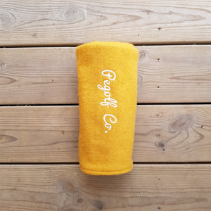 PEGolf yellow wool fw headcover
