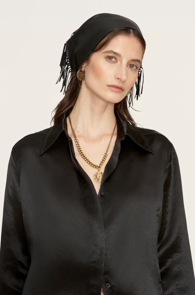 Isabel Head Scarf in Leather