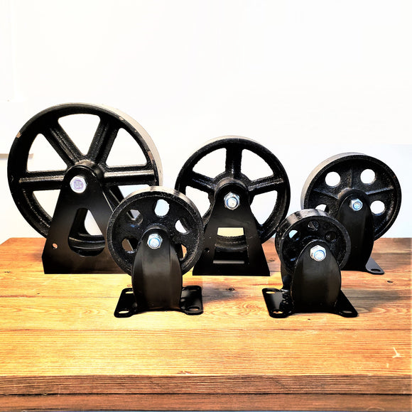 Cast Iron Casters, Metal Casters, Vintage Casters, Cast Iron Wheels