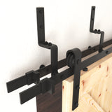 Bypass Brackets, Barn Door Hardware, Sliding Door Hardware, Exposed Wheel Hardware, Barn Door