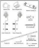 Bypass Barn Door Hardware, Sliding Door Hardware, Bypass Hardware, Barn Door Hardware