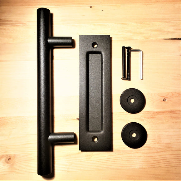Barn Door Handle Set - Two In One