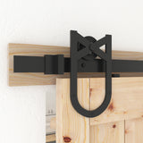 Barn Door Hardware, Sliding Door Hardware, Exposed Wheel Hardware, Horseshoe Shaped Hangers, Double Door Hardware