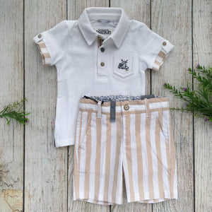 Conjunto Short Polo Rayas