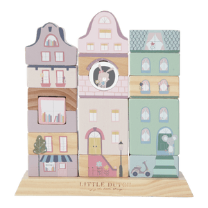 Little Dutch Building adventure set Pink, drvene kocke za decu, kocke za bebe, little dutch srbija