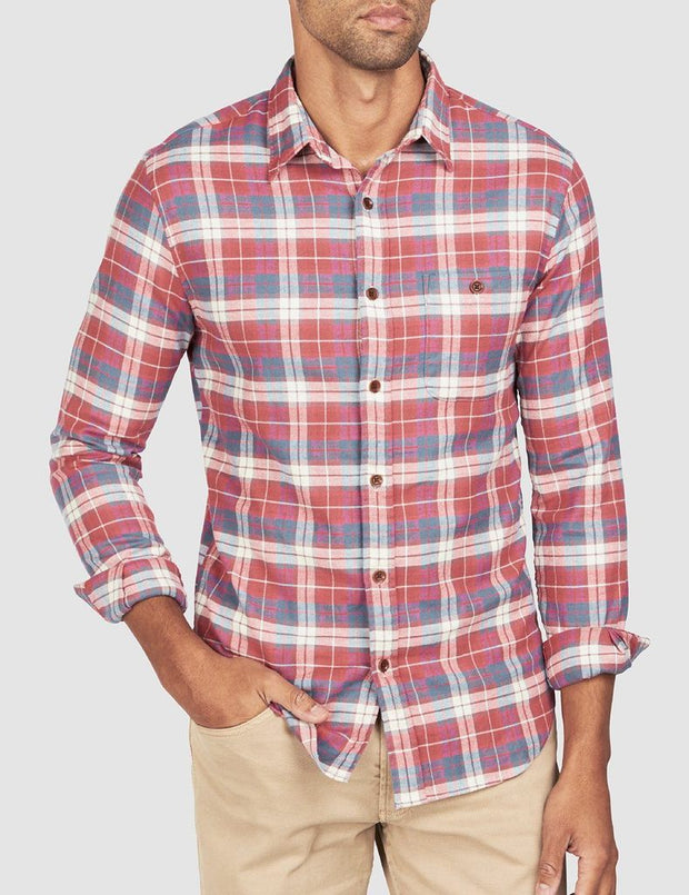 Faherty brand stretch seaview button up red