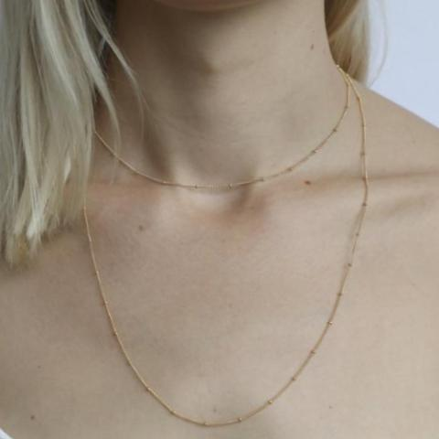 Adelaide Gold Double Necklace