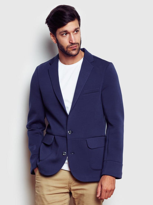 The Blazer in navy by Brunswick Park
