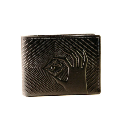 animal handmade deep diver bifold wallet black