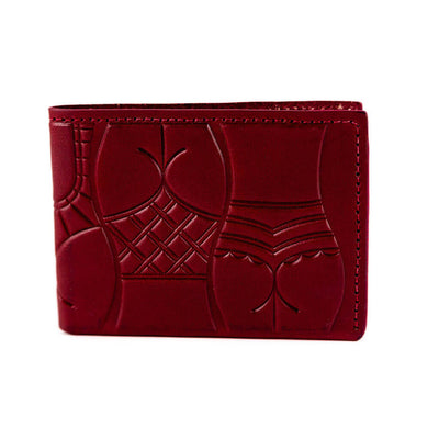animal handmade dream sardines bifold wallet ox blood