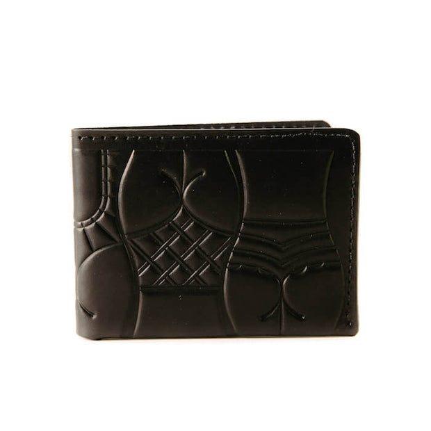 animal handmade dream sardines bifold wallet black