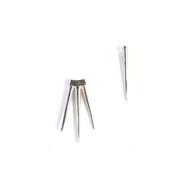 k/ller single spike small quill burst earring silver