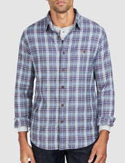 Faherty brand stretch seaview button up dark blue