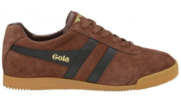Gola harrier suede cognac/black classic trainer shoe