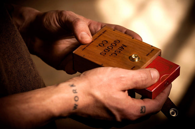 Wooden Playing Cards Case w/ Deck