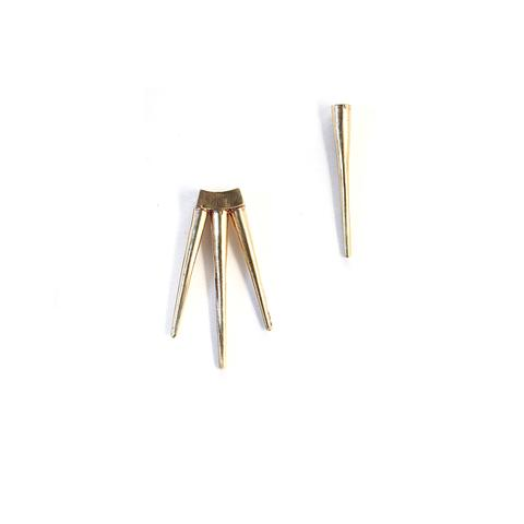 k/ller single spike small quill burst earrings brass