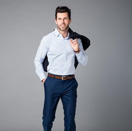 Light blue dress shirt by Mizzen and Main