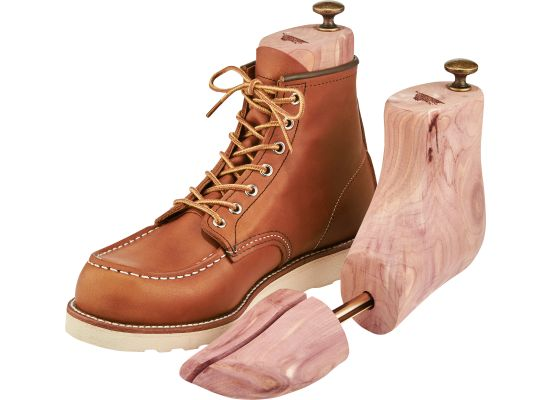 Cedar boot tree made by red wing brands of america, inc