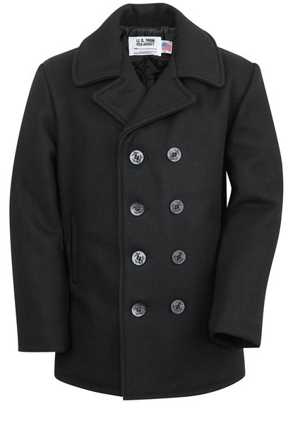 Classic Melton Wool Pea Coat
