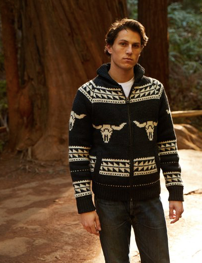 Fleece Lined Longhorn Sweater Jacket