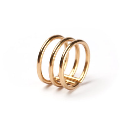 Thatch aurora gold cuff ring