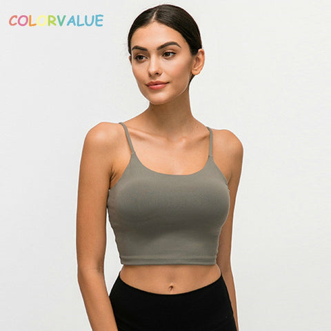 COLORVALUE Sports Bra with Removable Pads