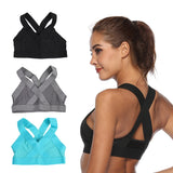AOLIKES Sports Bra Cross Strap