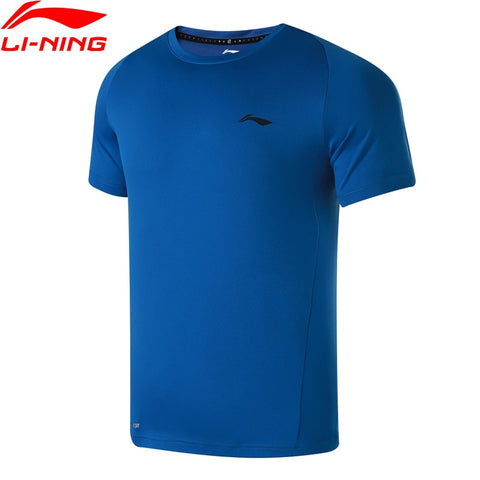 LI-NING Men's Running Shirt Short Sleeves Regular Fit