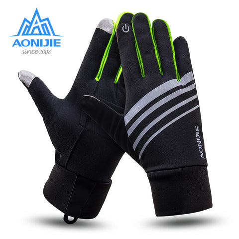 AONIJIE Running Gloves Warm Windproof