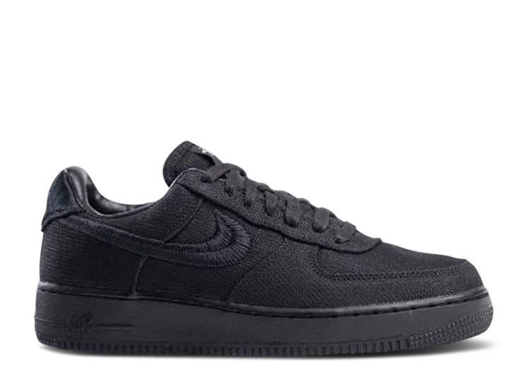 Nike Air Force 1 x Stussy 'Black'